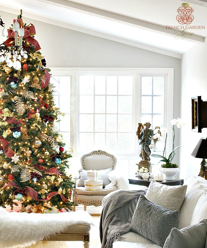 Home for the holidays for French country house blog