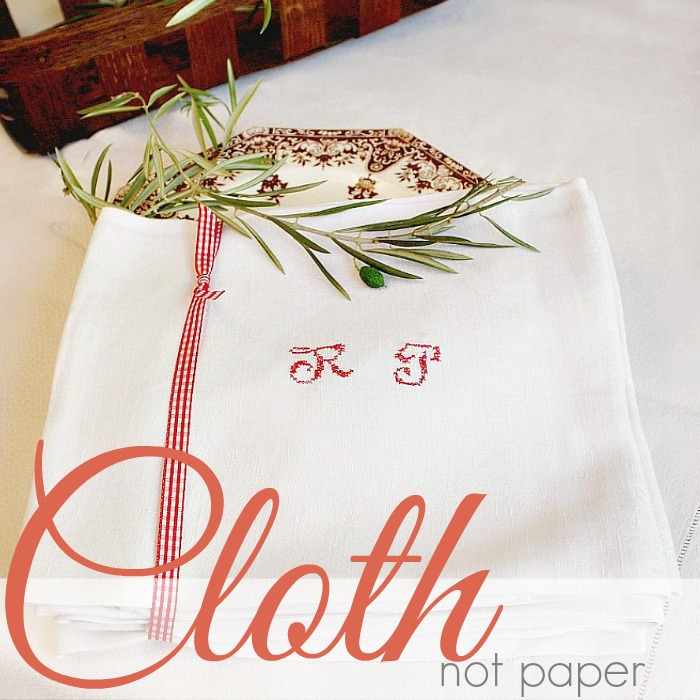 THE BEAUTY OF CLOTH NOT PAPER