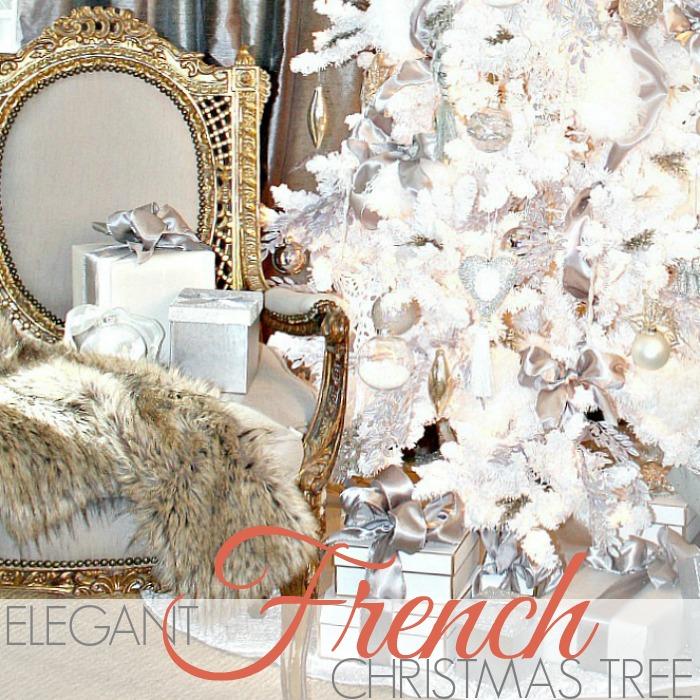 AN ELEGANT FRENCH WHITE CHRISTMAS TREE