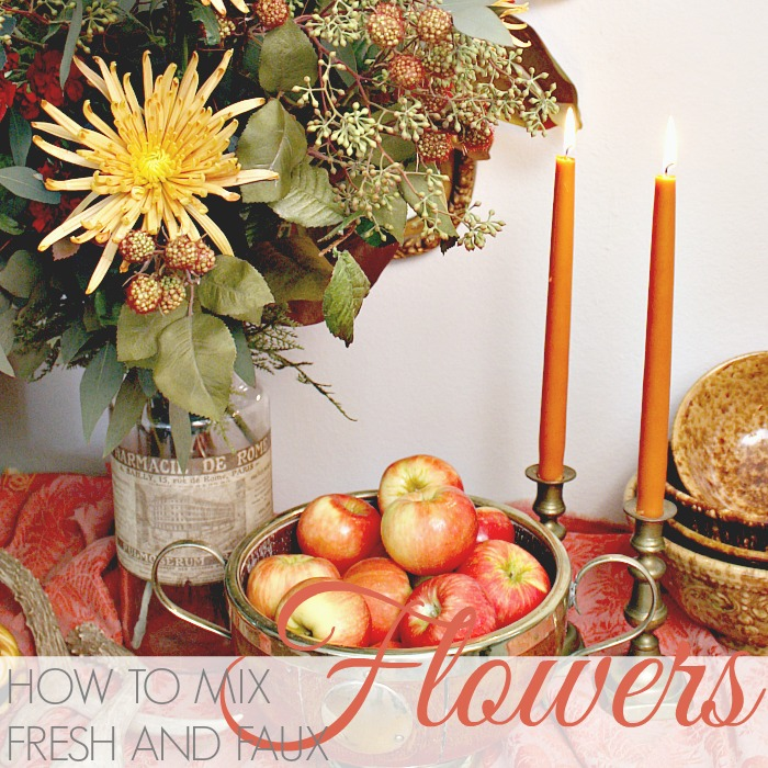 FLORAL FRIDAY | HOW TO MIX FRESH AND FAUX FLOWERS