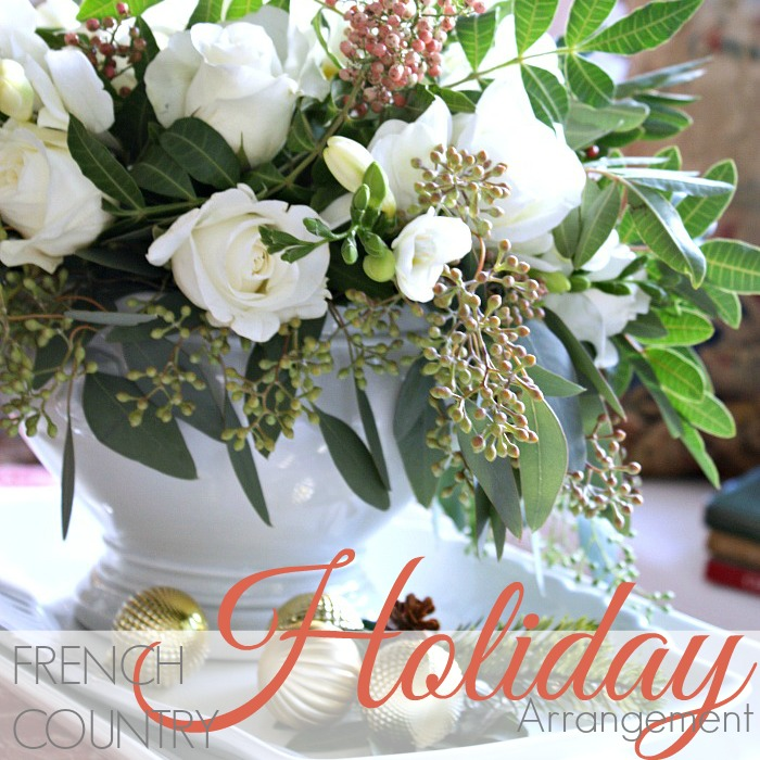 MONDAY MORNING BLOOMS | French Country White Holiday Arrangement