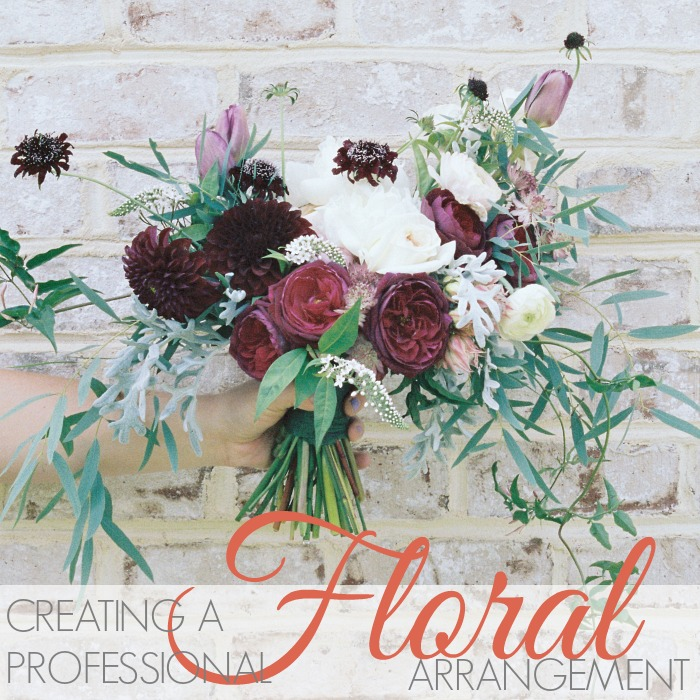 CREATING A PROFESSIONAL FLORAL ARRANGEMENT