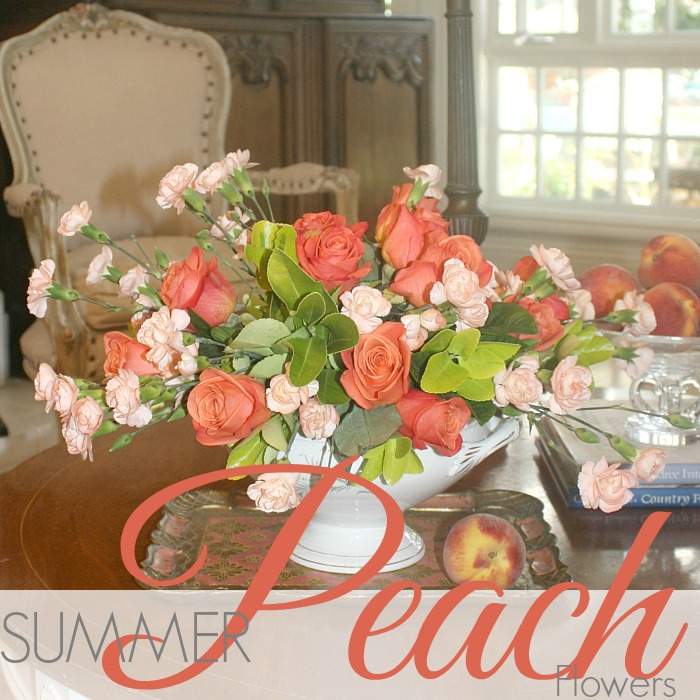 MONDAY MORNING BLOOMS   SUMMER PEACH FLOWERS
