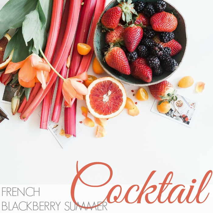 FRENCH BLACKBERRY SUMMER COCKTAIL
