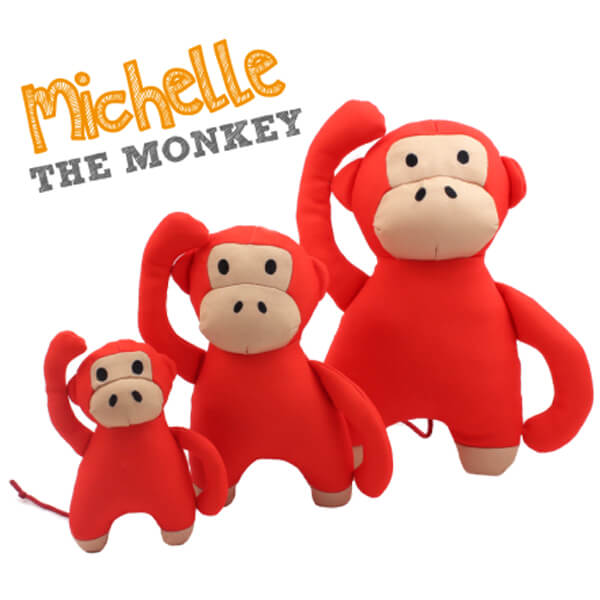 juguete perro peluche michelle the monkey beco