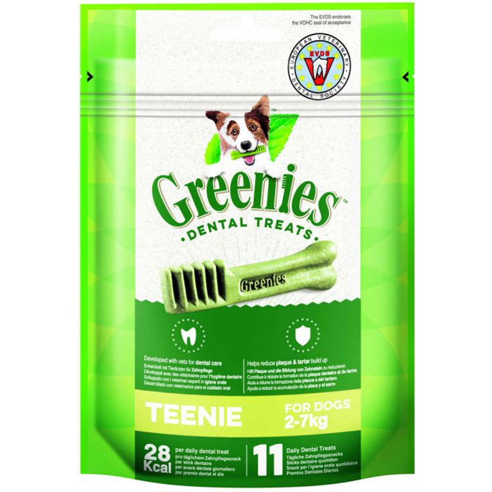 snacks premios perro higiene dental greenies teenie bolsa 11uds