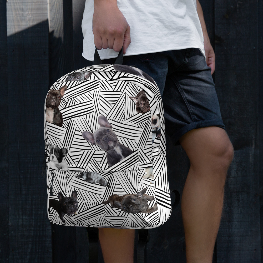 Graphic Frenchie Backpack