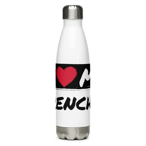 I Heart My Frenchie Stainless Steel Water Bottle