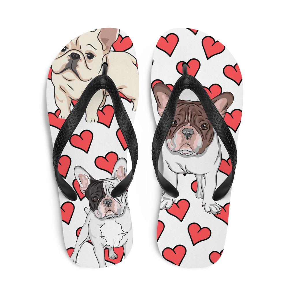 French Bulldog Heart Flip-Flops