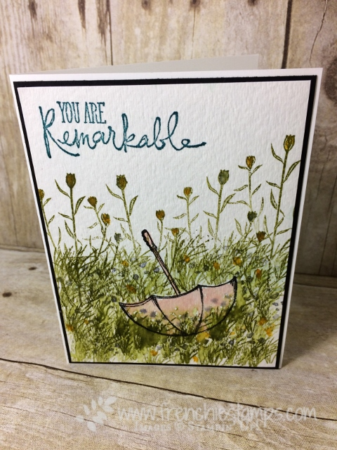Technique, Watercolor, Wild about flowers, high tide, Weather Together, Stampin'Up!