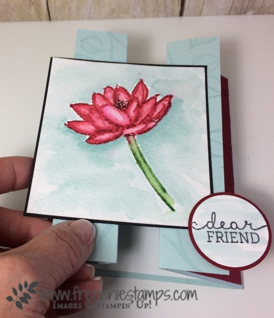 Remarkable You, Gated Fold, Watercolor no lines, Stampin'Up!, Birthday Blooms,