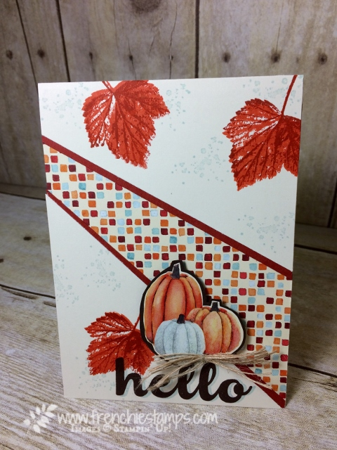 Recessed Panel Card, Painted Autumn designer paper, Gourd Goodness,