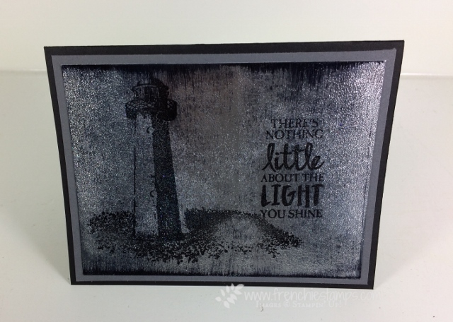 High Tide, Black Ice Technique, Frenchiestamps, Stampin'Up!