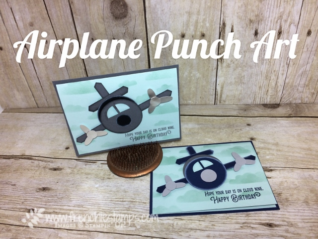 Stampin'Up! Punch Art Airplane How to make it video