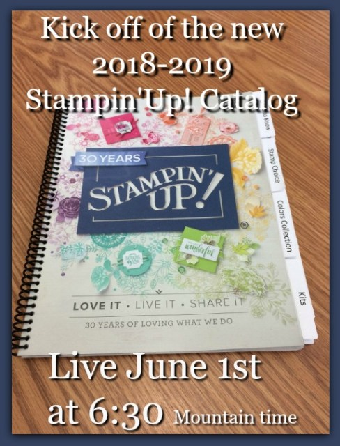 Stampin'Up! 2018-2019 Catalog, Live on You Tube, Frenchiestamps,