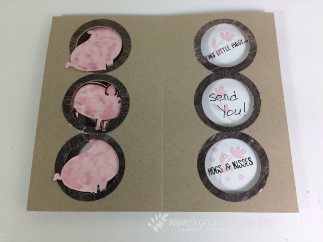 Trio Window Card, This Little Pig, Stampin'Up!, Frenchiestamps, Wood Texture Designer Series Paper,