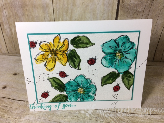 Penned & Painted, Stampin'Up! color combination, frenchiestamps. stamp on the Go