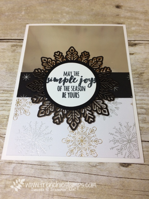 Foil Snowflakes and Year of Cheer paper