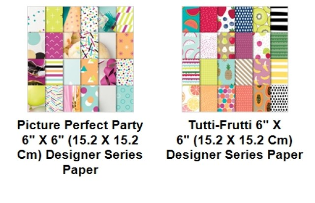 Stampin'Up! Designer Paper, Picture Perfect Party, Tutti Fruitti, Frenchiestamps, Designer Paper Share