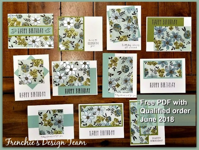 Share what You Love One Sheet Wonder, Stampin'Up!, Frenchie Team customer Appreciation,