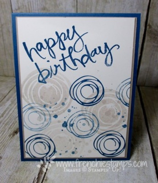 Watercolor Words for simple birthday cards