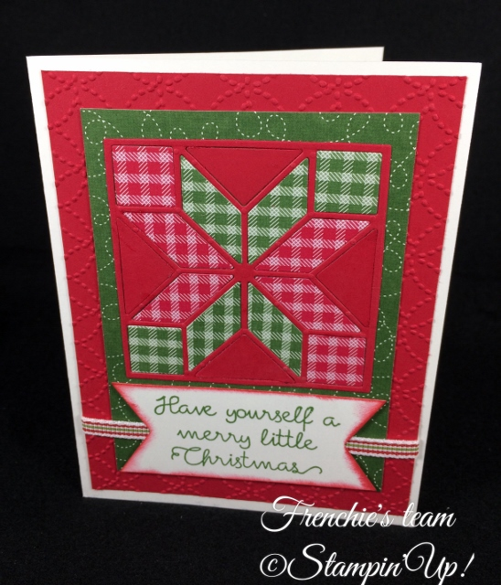 Quilted Christmas Paper, Stampin'Up!, Frenchie' Team