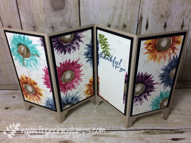 Painted Harvest, Divider Panel Card, Frenchiestamps, Stampin'Up!, Everyday Label Punch, Stamping Class in the Mail