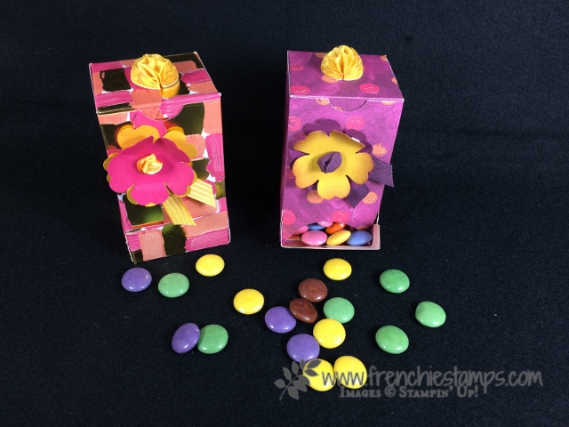 M & M Dispenser DIY, candy dispenser, Frenchie stamps, Stampin'Up!