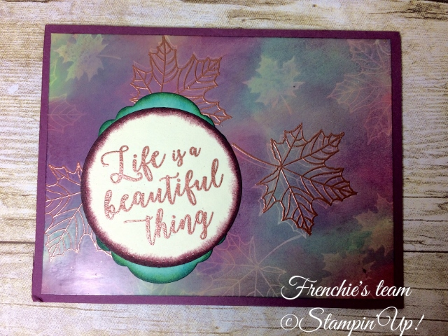 Glossy paper, Colorful Season, Stampin'Up!