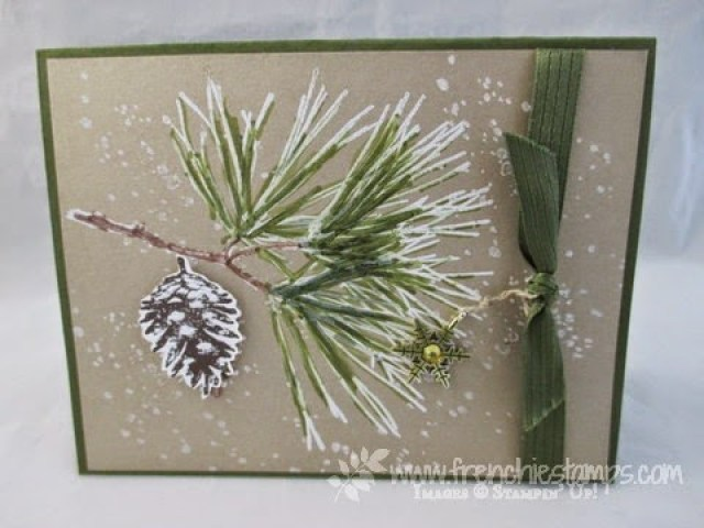 Blendabilites with White embossing Ornamental Pine