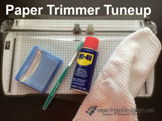 Stampin'Up! Paper trimmer tuneup with Frenchie