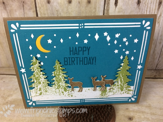 Card front Builder Thinlits for masculine card