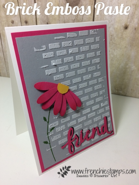 Embossing Paste, Texture Brick, Daisy Punch, Stampin'Up!
