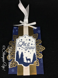 Frenchie's Team, Gift Card Holder, Stampin'Up!, Merry Little Labels