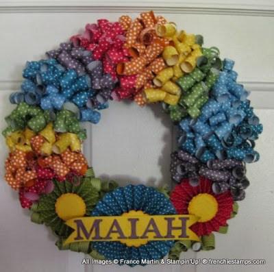 Rainbow Curly Wreath