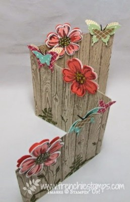 Z fold with flower and butterflies Stampin'Up! convention 2014
