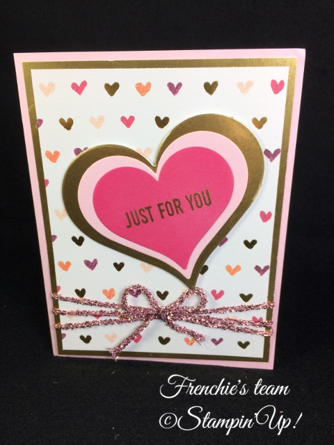 Painted with Love Specialty Designer Paper, Frenchie Team, Stampin'Up!
