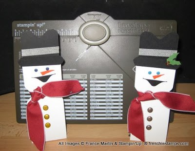 Envelope Punch Board for Snowman Candy Holder