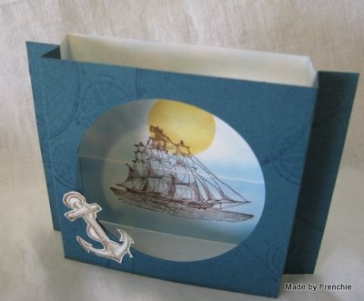 Shadow Box Card with Open Sea….