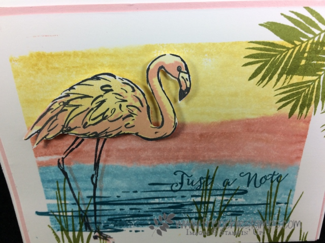 Fabulous Flamingo, Clear Block Stamping, Frenchiestamps, Stampin'Up!