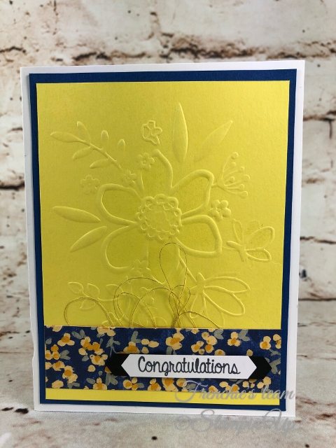 2018-2020 Stampin'Up! in-Colors, Frenchie Team challenge, Lovely Floral embossing Folder,