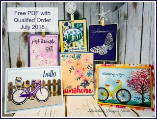 Frenchie' Team Customer appreciation. Bike Ride, Springtime Impressions Thinlits, Abstract Impressions, Stampin'Up!,