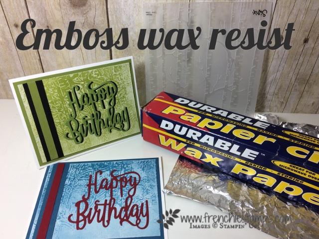 Emboss Wax Resist on Glossy