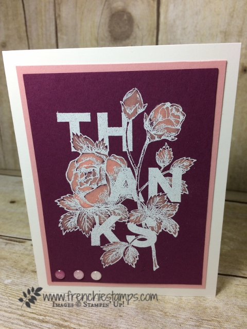 Floral Statement, Bleaching, Blender Pen, Stampin'Up!