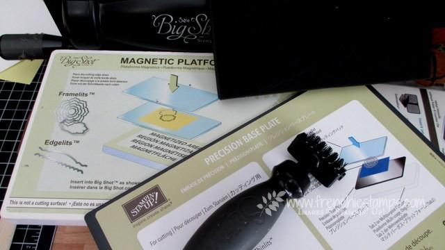 Big Shot Die Brush, Magnetic Platform, Precision plate