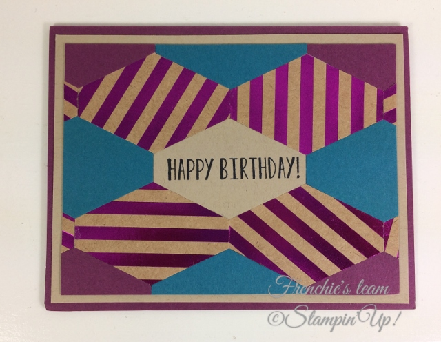 Frenchie' Team, Tailored Tag Punch, Stampin'Up!, Foil Frenzy Designer paper,