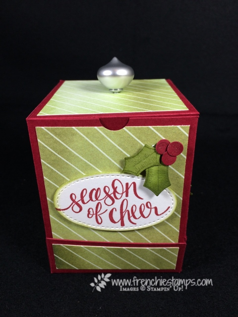 Frenchie live, 3-D, Video, Tea Paper Dispenser, Tea pk Box, Merry Little Label, Merry little Christmas designer paper, Watercolor Christmas, Happy Berry Happiness