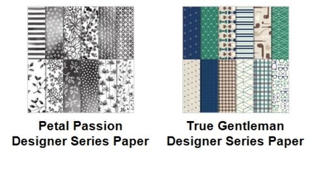 Stampin'Up! Designer Paper, Petal Passion, True Gentleman, Frenchiestamps, Designer Paper Share