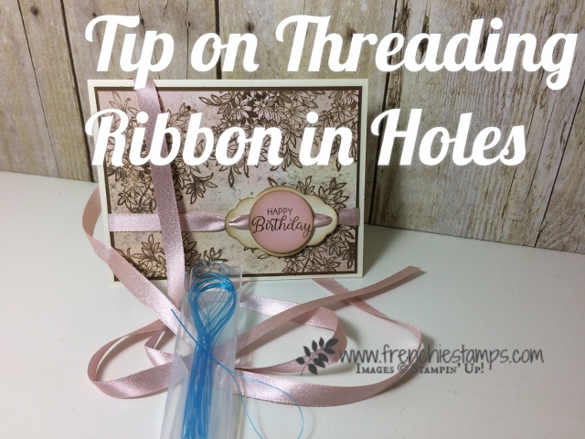 Ribbon Tips to loop in small opening