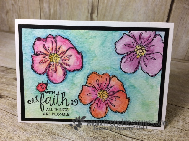 Full Canvas Watercolor, Penned and Painted, Stampin'Up!